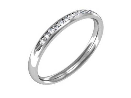 Wedding Band, Diamond, Channel Set, Bridal, Marriage, White Gold, Ring, Rings